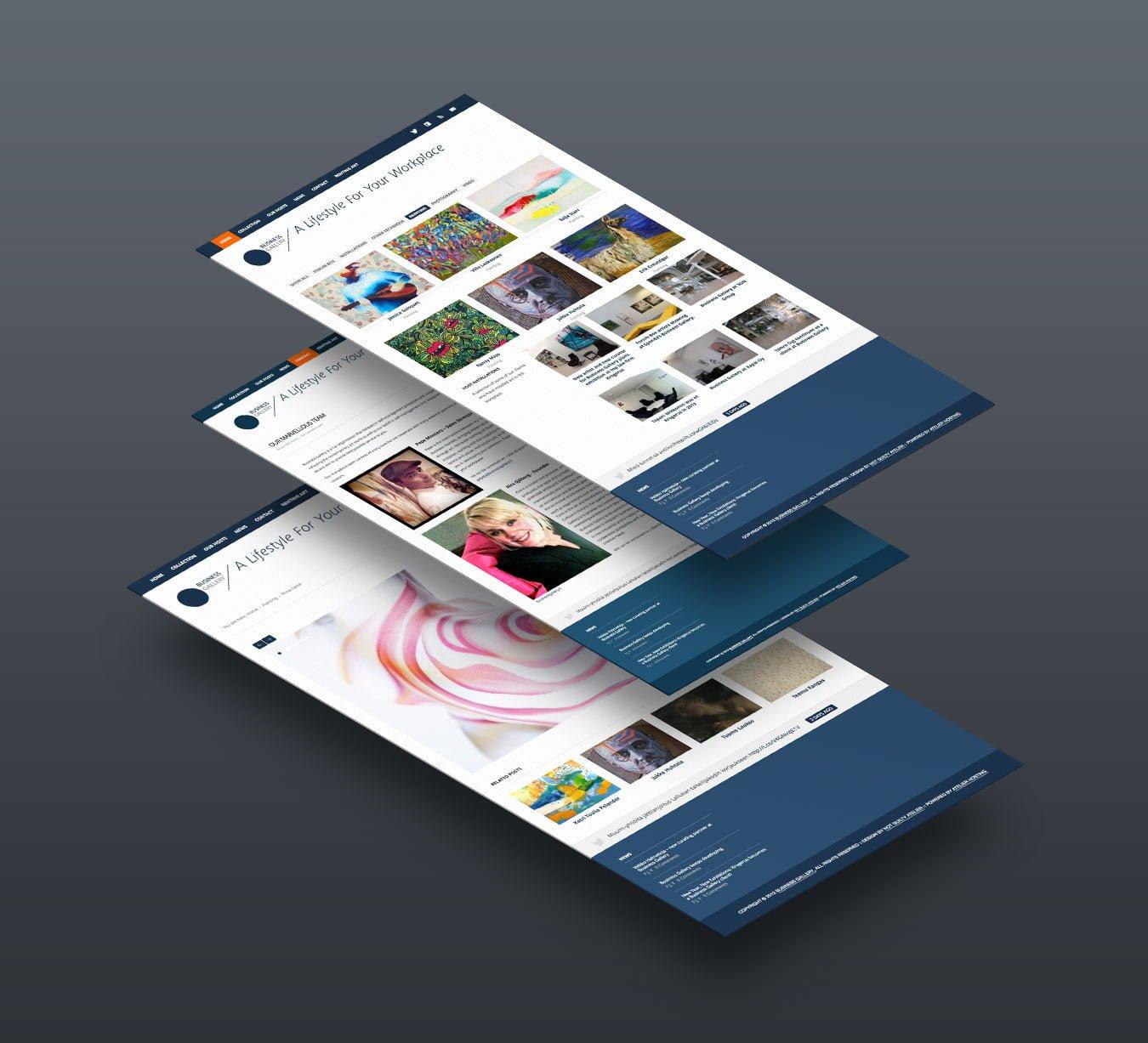 business gallery website