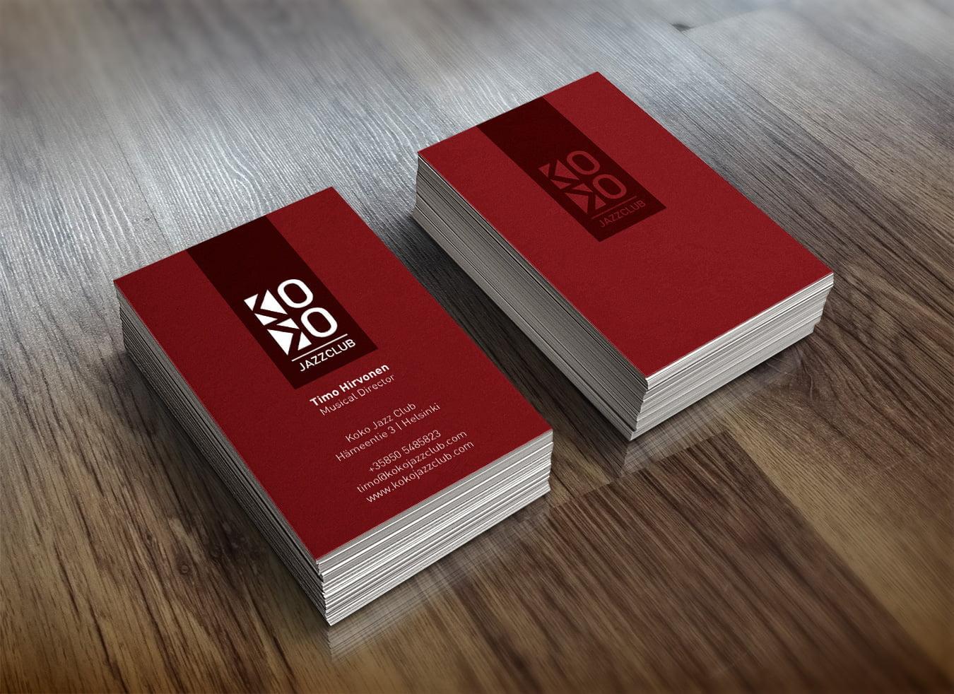 koko jazz club cards